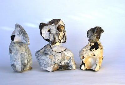 De tre vise sten, H 15 cm